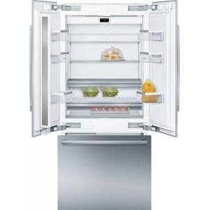 """Bosch B36BT935NS 36"""" Smart Built-In French Door Refrigerator with 19.4 cu. ft. Total Capacity  Home Connect  LED Lighting and MultiAirFlow in Stainless"""