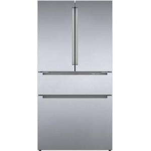 """Bosch B36CL80ENS 36"""" 800 Series French Door Refrigerator with 20.5 cu. ft. Capacity  FarmFresh System  VitaFreshPro  LED Lighting and MultiAirFlow  Enabled"""