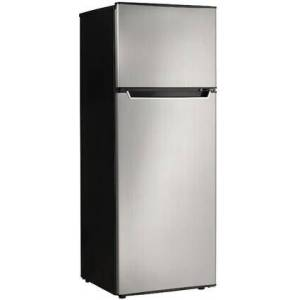 """Danby DPF073C2BSLDB 22"""" Apartment Size Top Freezer Refrigerator with 7.3 cu. ft. Capacity  3 Slide-Out Glass Shelves  Reversible Door  in Stainless"""