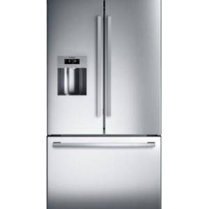 Bosch B26FT50SNS French Door Bottom Mount Refrigerator with 25 cu. ft.Total Capacity  LED Lighting  NoFrost  and SuperFreezing  Door Lock  7.8 cu. ft.