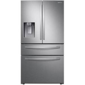 """Samsung RF28R7201SR 36"""" 4-Door French Door Refrigerator with 28 cu. ft. Total Capacity  FlexZone Drawer  Wi-Fi Connectivity and LED Lighting in Stainless"""