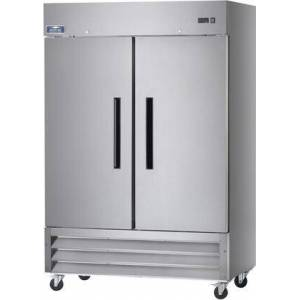 """A49R 54"""" Reach-In Refrigerator with 49 cu. ft. Capacity  6 Shelves  2 Doors  1/2 HP  in Stainless"""