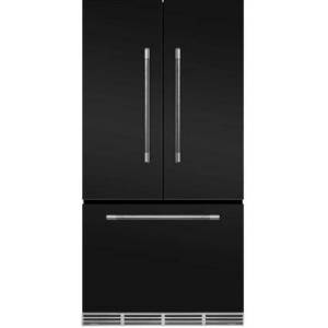 """AGA MMCFDR23MBL 36"""" Mercury  Counter Depth French Door Refrigerator With Storage Drawer  22.2 cu. ft. total capacity  12 Temperature Settings  Adjustable"""