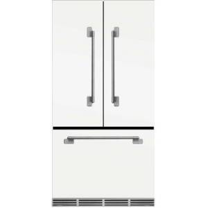 """AGA MELFDR23WHT 36"""" Elise  Counter Depth French Door Refrigerator With Storage Drawer  12 Temperature Settings  22.2 cu. ft. Capacity  Adjustable Glass"""