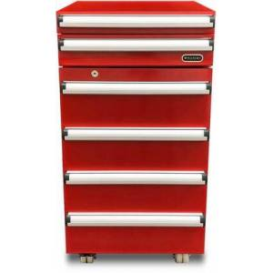 """Whynter TBR-185SR 17"""" Portable Tool Box Refrigerator with 1.8 cu. ft. Capacity Refrigerator  2 Drawers  and Lock  in"""