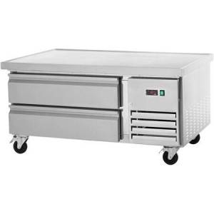 """Arctic ARCB36 38"""" Refrigerated Chef Base with Insulated Top  CFC Free Refrigerant  Casters and Electronic Thermostat in Stainless"""