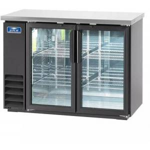 """Arctic ABB48G 49"""" Glass Door Back Bar Refrigerator with Electronic Thermostat  Solid Foamed Stainless Steel Top  LED Lighting and Magnetic Gaskets in"""