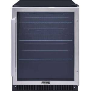 """Galanz GLB57MS2B15 24"""" Built In Beverage Center with 167 Can Capacity  Digital Temperature Control  Sliding Wire Shelves  Interior LED Lighting  Insulated"""