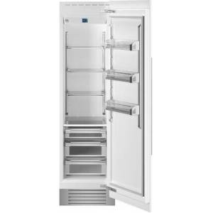 """Bertazzoni REF24RCPRR 24"""" Built In Column Refrigerator with 12.99 cu. ft. Capacity  White Aluminum Interior  Intuitive Digital Touch Controls  Left and Swing"""