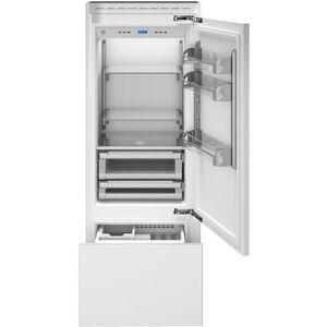 "Bertazzoni REF30PRR 30"" Built In Bottom Mount Refrigerator with 13.9 cu. ft. Capacity  FlexMode Refrigerator Freezer  Digital User Interface  Custom Icemaker"