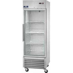 """Arctic AGR23 27"""" Reach In Refrigerator with 3 Shelves  1 Doors  23 cu. ft. Capacity  1/3 HP  Glass Door  in Stainless"""