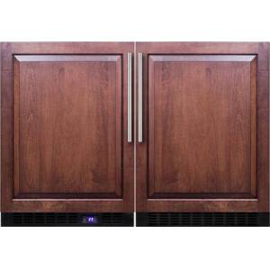 """Summit Panel Ready Compact Refrigerator/Freezer Pair with FF64BIF 24"""" Compact Refrigerator and SCFF53BIF 24"""" Compact"""