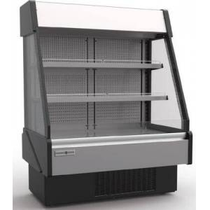 """Hydra-Kool KGL-RS-60-S 60"""" Grab-N-Go Low Profile Case with 19.85 cu. ft. Capacity  Front and Rear Loading  Electric Shutter and LED Lighting in Stainless"""