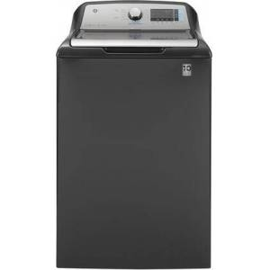 """GE GTW845CPNDG 27"""" Top Load Washer with 5 cu. ft. Capacity  10 Cycles  Dual-Action Agitator  WiFi Connect  SmartDispense Technology and 800 RPM in"""