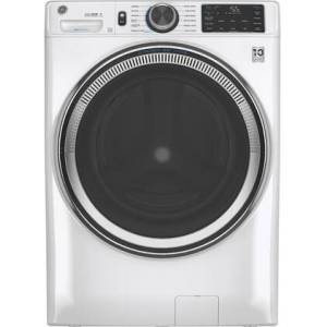 """GE GFW650SSNWW 28"""" Front Load Washer with 4.8 cu. ft. Capacity  Built-in Wifi  UltraFresh Vent System with OdorBlock and Microban Antimicrobial"""
