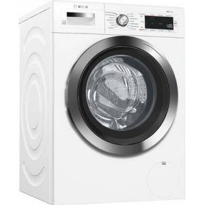 """Bosch WAW285H2UC 24"""" 800 Series Compact Washer with 2.2 cu. ft. Total Capacity  14 Wash Cycles  Silence Level 50 dBA Washing and 71 dBA Spinning   AquaStop"""