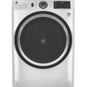 """GE GFW550SSNWW 28"""" Front Load Washer with 4.8 cu. ft. Capacity  UltraFresh Vent System with OdorBlock  Microban Antimicrobial Technology and Built-in"""