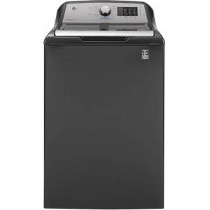 """GE GTW725BPNDG 27"""" Top Load Washer with 4.6 cu. ft. Capacity  12 Wash Cycles  Dual-Action Agitator  800 RPM and Stainless Steel Wash Basket in Diamond"""