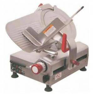 """Axis AXS12BA 12"""" Automatic Meat Slicer with High Carbon Steel Blade  .55 HP Fan-cooled Motor  in Stainless"""