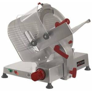 """Axis AXS13GA 13"""" Gear Automatic Meat Slicer with High Carbon Steel Blade  .60 HP Motor  Aluminum Meat Grip  in Stainless"""