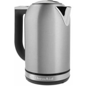 KitchenAid KEK1722SX 1.7 Liter Electric Kettle with Variable Temperature Settings  Digital Temperature Display  30 Minute Hold Temp Function  Lid Release Button