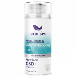 Medterra - CBD Topical - Relief + Recovery Cooling Cream 3.4 fl oz - 750mg
