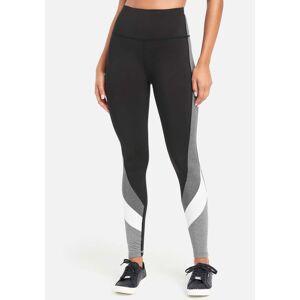 bebe Women's Bebe Sport Color Block Legging, Size Large in Black/Charcoal