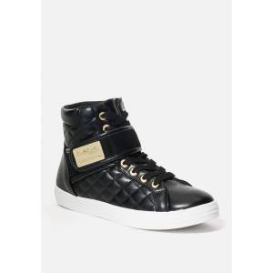 Bebe Women's Dianica Quilted High Top Sneakers, Size 6.5 in BLACK Synthetic
