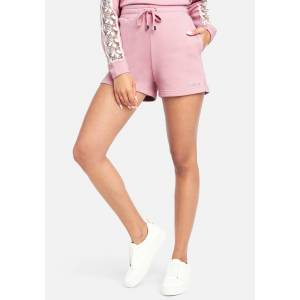 bebe Women's Bebe Logo French Terry Shorts, Size Small in New Pink Cotton