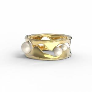 Heart Shaker ECG Ring Sterling Silver
