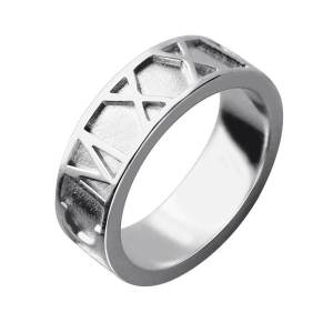 Valentine's Day Gifts for Him - Roman Numerals Band Ring