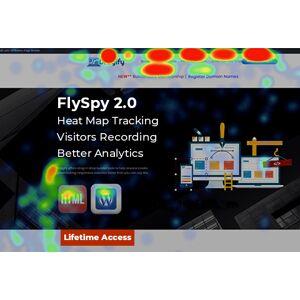 FlySpy 2.0 For Heat Maps, Visitors Recordings & Better Analytics / LIFETIME