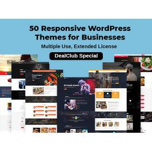 DealFuel 50 Responsive WordPress Themes for Businesses – Extended License / DealClub Special