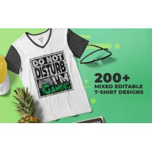 200+ Mixed Editable T-shirt Designs