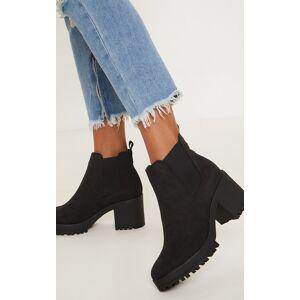 PrettyLittleThing Black Chunky Chelsea Boot - Black - Size: 9