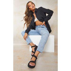 PrettyLittleThing TEVA Black Midform Universal Sandals - Black - Size: 6