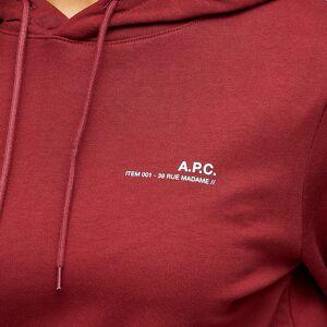 A.P.C. A.P.C Item Hoody  Dark Red
