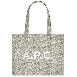 A.P.C. Diane Liberty Print Shopper  Light Khaki