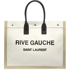 Saint Laurent Rive Gauche Tote Bag  Ecru