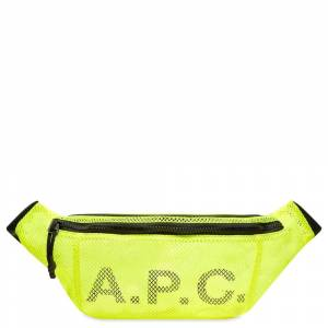A.P.C. Mesh Logo Waist Bag  Yellow