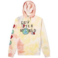 Tommy Jeans Tj Us Luv The World Hoody  Tie Dye