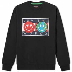 Tommy Jeans Tj Us Luv The World Crew Sweat  Black