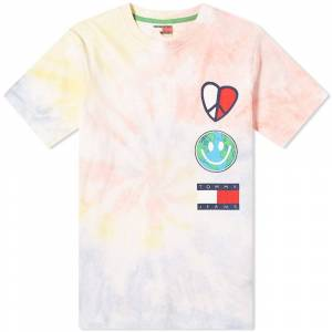 Tommy Jeans Tj Us Luv The World Tee  Tie Dye