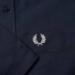 Fred Perry Short Sleeve Oxford Shirt  Navy