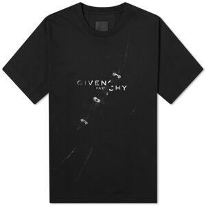 Givenchy Oversized Trompe L Oeil Logo Tee  Black