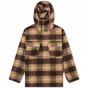 Engineered Garments Plaid Cagoule Shirt  Brown & Pink