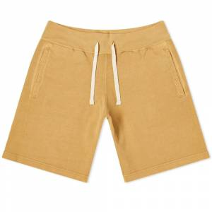 Beams Plus Pigment Dye Athletic Sweat Short  Yellow
