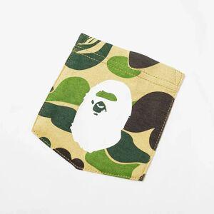 A Bathing Ape ABC Camo Pocket Tee  White & Green