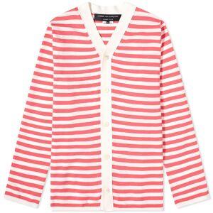 Comme des Garçons Homme Plus Comme des Garcons Homme Plus Striped Knit Cardigan  White & Pink