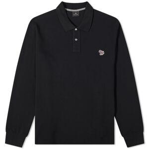 Paul Smith Long Sleeve Regular Fit Zebra Polo  Black